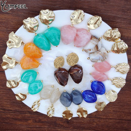 серьги новые модели Скидка Yumfeel  New Earrings 10 Model Choice Candy Color Resin Acrylic Metal Geometry Earrings Women Jewelry Gifts