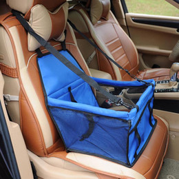 Pawstrip 5 colori Pet Carrier Dog Booster Seat Mesh traspirante Outdoor Travel Car anteriore Seat Cover per cani di piccola taglia da