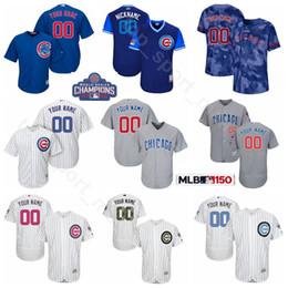 1f268d1e3 Chicago Baseball Cubs 9 Javier Baez Jersey 17 Kris Bryant 44 Anthony Rizzo  12 Kyle Schwarber 5 Albert Almora Jr. Custom Name Flexbase