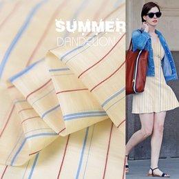 Moderno 65% seta 35% tessuto stampato a lino per le donne Vestito 140 cm largo 14 Momme tessuto a strisce per cucito fai da te 19 Estate Nuovo da