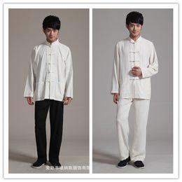 2019 chinesische tai chi-anzüge Chinesische Kampfkunst Kleidung traditionelle Anzüge Männer Hanfu Kung Fu Kung Fu Tai Chi Kleidung einheitliche Kung Fu Anzug Flügel Chun rabatt chinesische tai chi-anzüge