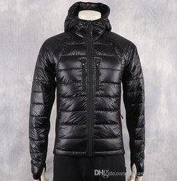 uomini in giù vendita di cappotti Sconti New Fashion Winter Down Lite Jacket Men's Warm Hooded Brand Designer Giacche per uomo Parka Uomo Cappotti di lusso Ca Taglie forti Vendita