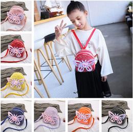 2019 lindas mochilas de diseño para la escuela New Kids Designer Mochilas Kindergarten Baby School Bags Niños Lindos Moda Lentejuelas Mariposa Adorno Cruz-body Bags B11 lindas mochilas de diseño para la escuela baratos