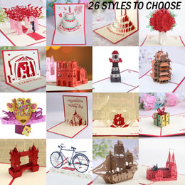stelle origami Sconti Molteplici stili creativi 3D Pop Up Birthday Card Wedding Impressionante biglietti di auguri Keepsake regalo
