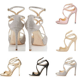nuevas sandalias de moda para niñas Rebajas Nuevas sandalias de diseñador para mujer, así como Kate Styles Fashion Luxury girl tacones altos 10CM 12CM LANCE negro rosa blanco Plata Cuero Punto tamaño 35-42