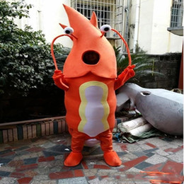 Trajes de mascote do oceano on-line-Camarão de alta qualidade Mascot Costume Ocean mascote Animal Adulto Laranja Trajes de Camarão Trajes Dos Desenhos Animados Trajes de Publicidade