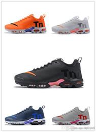 best website f6762 6a0cd Mercurial Plus Tn 2 Noir Blanc Orange Gris Rose Chaussures De Course pour  les entraîneurs de haute qualité TN2 Hommes Classique Baskets De Formation  Taille ...
