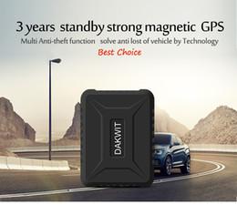 aplicación gps Rebajas Venta al por mayor GPS Tracker tk800b PK TK905 6600mAh Standby largo 3 años 2G Vehículo Tracker Localizador GPS Impermeable Imán Monitor de voz Aplicación gratuita
