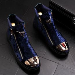 scarpe d'oro italiane Sconti Fashion Gold Top Uomo Scarpe casual in velluto vestito da uomo italiano Scarpe da festa di lusso Mocassini da lavoro artigianali di lusso W227