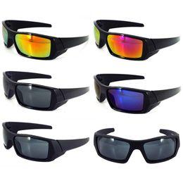 Envolver alrededor de marcos online-Gafas de sol de conducción Marco cuadrado super oscuro polarizado Wrap Around Gafas de deporte negro brillante C5 mercurio púrpura