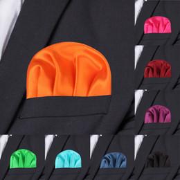 2019 feste seidentasche Mode Solid Silk Satin Taschentuch Candy Farbe Anzüge Einstecktuch Für Männer Business Brust Handtuch Taschentuch Anzug Serviette Taschentücher günstig feste seidentasche