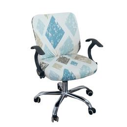 Sedie ufficio sedie online-Universale Elastic Fabric Spandex Split copertura della sedia Anti-sporco sedia da ufficio Computer Custodia in sede Stretch Back Cover