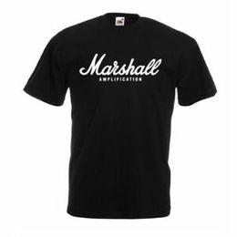 Музыкальные группы логотипы онлайн-МАРШАЛЛ ЛОГОТИП BlaDesign Футболка Мужская рубашка RoDesign Band Tee Music