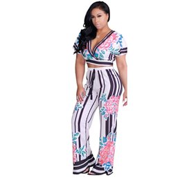 29dae6ed1741 two piece set tracksuit women outfits Print Sexy short sleeve shirt tshirt  V-neck crop top