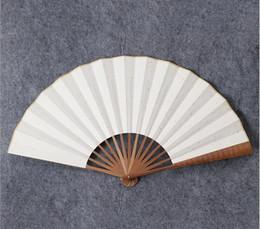 2019 chinese fan diy Papierfalten China Fan - Bambusrippen Plain Hand Fans mit traditionellen chinesischen Künsten DIY Handwerk Projekt Handheld Fans Hochzeit Mitbringsel rabatt chinese fan diy