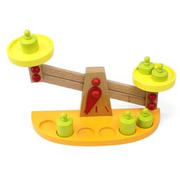 Balance en bois balance bébé illumination balance cognitive en bois jouets éducatifs enfants éducation précoce penser jouets créatifs ? partir de fabricateur