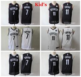 2020 camisa dos meninos 13 Crianças Juventude Cidade BrooklynNets Edição Camisa de basquete Kevin Durant 7 Kyrie Irving 11 meninos costurados camisas pretas camisa dos meninos 13 barato