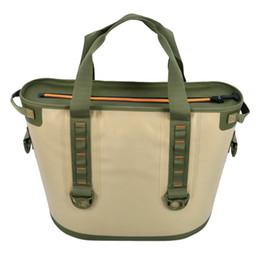 Кулеры для завтрака онлайн-DHL 30L большие изолированные кулеры / водонепроницаемый кулер сумка-носитель обед сумки для наружного кемпинга, пляжный день или путешествия портативный кулер