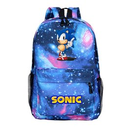 silver sonic Coupons - Hot Sale Sonic the Hedgehog Backpack Boys Girls School Knapsack Fashion New Pattern Rucksack for Teens Men Women Travel Bags