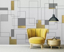 gold wallpaper for bedroom Coupons - Custom Mural Wallpaper For Walls 3D StereoscopicGeometric gold mosaic pattern bedroom Bedroom TV Background Home Wall Decoration Painting
