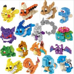 micro bloques de construcción Rebajas Pokeballl Pikachu Elf Treasure Cartoon Building Block Movie DIY Figuras de acción Ladrillo Micro partículas de juguete para niños niños