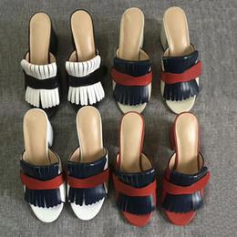 2019 сандалии с платформой Роскошные женские босоножки на высоком каблуке Marmont Sandals. Замшевая кожа с бахромой. дешево сандалии с платформой