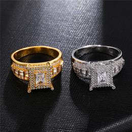 2020 мужские кольца для драгоценных камней Мужские кольца Хип-хоп ювелирных изделий циркон Обледенение Out Rings Luxury Cut Top CZ Алмазный Полный Бриллиантовые Мужчины обручальное кольцо Оптовая продажа ювелирных изделий дешево мужские кольца для драгоценных камней