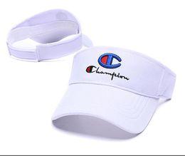 Atacado moda new designer chapéu de golfe pala de sol sunvisor chapéu de festa boné de beisebol sol vazio top hats protetor solar chapéu de Tênis Praia elástica chapéus de