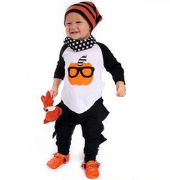 cosplay spielanzug Rabatt 0-2 T Baby Boy Halloween Kleidung Langarm T-Shirt und Hose Cartoon Design Baby Boy Cosplay Kleidung Strampler