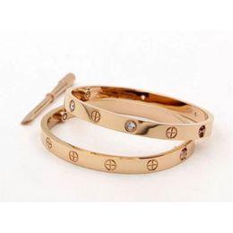316Soutlable Acier 18k Bracelet D'amour Argent Rose Or Bracelet Bracelets Femmes Hommes Vis Tournevis Bracelet Couple Bijoux + Boîte d'origine ? partir de fabricateur