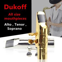 Dukoff Professionnel Embouchure En Métal Taille 5 ~ 9 Saxophone Alto Bec Bec Sax Instruments de Musique Bb Tone Tenor Bec ? partir de fabricateur
