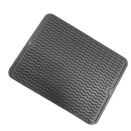 Держатель духовки онлайн-Силиконовый нескользящий термостойкий горшок для посуды Настольный коврик Drain Grey, Red, Black Pad Holder Tool