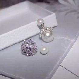d03f433d0c31 2019 modelos de perlas de plata Pendientes de diseño europeos. Aguja de  plata S925.