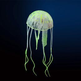 Decoração mini tanque de peixe on-line-Efeito Glowing de alta Qualidade Artificial Jellyfish Fish Tank Aquarium Decoração Mini Submarine Ornament Underwater Pet Decor