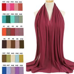 2019 chiffon hijab schals Frauen-Schal-Luftblasen-Chiffon- Schal-Silk Gefühl Hijab Normallack-Schals und Verpackungs-Stirnband moslemischer Hijab-Schal-Ansatz Foulard günstig chiffon hijab schals