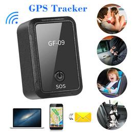 Rastreador de veículo pessoal on-line-Nova GF-09 GPS Tracker Mini Veículo Forte Instalação Magnética Localizador GPS Tracking Rastreamento Pessoal Objeto Anti Perdido Rastreador