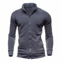 2019 fitness jacke männer Neue grundlegende zip hoodies sweatshirt herbst frühling männer up jacke beiläufige langarm schlank fitness hoody sportbekleidung männlich c19040101 günstig fitness jacke männer