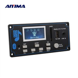 2020 placa do bluetooth mp3 decodificador Módulo MP3 AIYIMA Bluetooth MP3 Decoder Board WMA USB SD FM AUX Decodificação Car Lyrics sincronização DIY Speaker Amp Home Theater placa do bluetooth mp3 decodificador barato