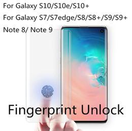 galaxia s6 borde más templado completo Rebajas Estuche para Galaxy S10 Note 9 S9 S10e Note 8 S8 Plus S7 edge S6 3D Cristal templado de pantalla completa con paquete al por menor