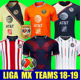 c43f82864 Thailand 2018 2019 CHIVAS club world cup LIGA MX Club America CHIVAS  Guadalajara UNAM TIGRES soccer Jersey 18 19 football cheap club america  blue jersey