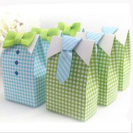 Cravate à rayures sacs à bonbons Sac pour le parti bébé douche papier emballage cadeau partie de mariage ? partir de fabricateur