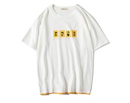 Coreano impreso tees hombres online-Marca coreana de la camiseta de los hombres 2019 de verano de moda informal de impresión Tops Tees Homme algodón transpirable PlusSize 3XL Ropa para hombre