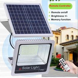 2019 projecteurs utilisés Umlight1688 Lumière d'inondation à led solaire extérieure 100W 60W 40W avec minuterie Télécommande Capteur de lumière Utilisation de l'indicateur de projecteur solaire Utilisation 8 ans promotion projecteurs utilisés