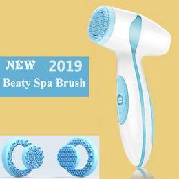 Escova de cuidados sônicos on-line-Dropshipping link para VIP elétrica Facial de Limpeza Escova de Sonic Pore Cleaner Nu Galvanic Spa Skin Care massageador face-lift