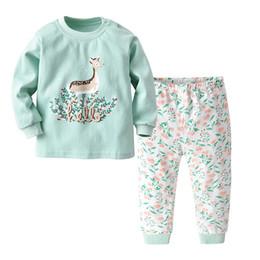 2019 conjuntos de pijama para meninos Miúdos 2 pcs Set Pijama para Meninos Da Criança Underwears Little Girls Sleepwears Crianças Nightwears Kid Pijama Criança Roupa Interior Crianças Sleepwear desconto conjuntos de pijama para meninos