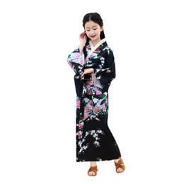 2019 masque spiderman iron man Shanghai Histoire filles Kimono Robe Yutaka pour les enfants japonais Costume Traditionnel