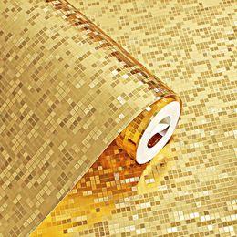 Argentina 1 rollo de PVC 10M etiqueta de la pared del brillo efecto espejo mosaico de la chispa de luz se reflejan oro pegatinas de papel de aluminio Suministro