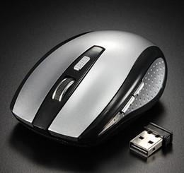 tableta óptica Rebajas NUEVO 2.4 GHz Ratón óptico USB inalámbrico Ratón receptor USB Ratón inteligente para ahorrar energía para computadora Tablet PC Computadora portátil de escritorio