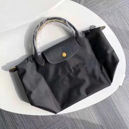 Сумка для лошадиных рук онлайн-Высочайшее качество женская ручная сумка 70-й Anniversar Horse Designer Известные бренды Женщины коровьей нейлоновые сумки с короткой ручкой леди складные сумки L1621