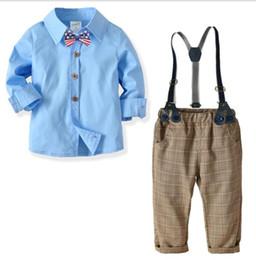 2019 chicos nuevos modelos de vestir 2019 New Kids'Suit Camisa de algodón para niños Pantalones Gentlemen's Four Kids'Dresses Vestidos de banquete para niños traje Nuevos modelos más vendidos SIZ chicos nuevos modelos de vestir baratos